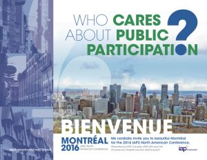 IAP2 Conference, public participation in Montreal